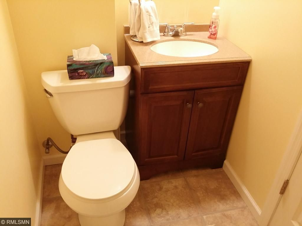 Lower level 3/4 bath (shower is not pictured)