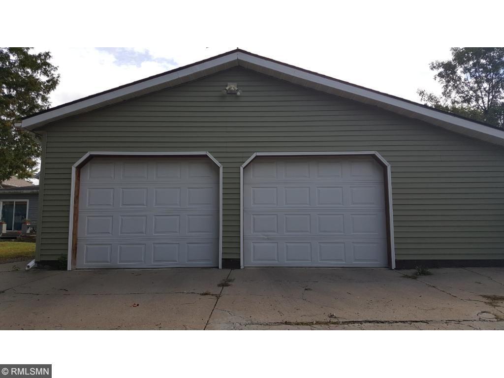 Over sized 2 car garage with bonus room for storage.