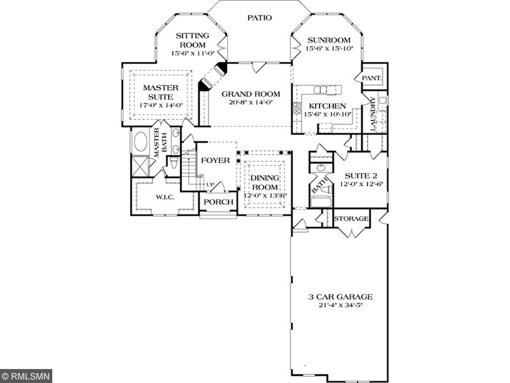 Custom Home Plan #1 main level