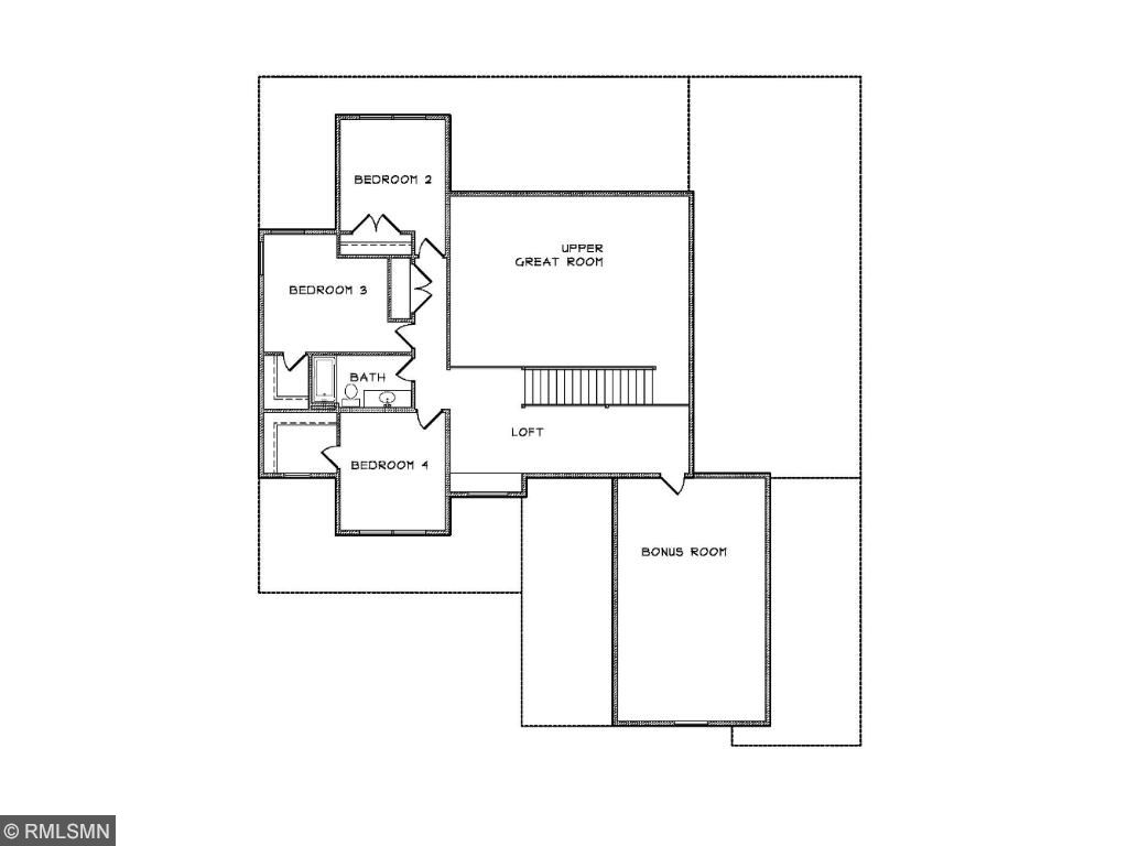 Custom Home Plan #1 Upper Level
