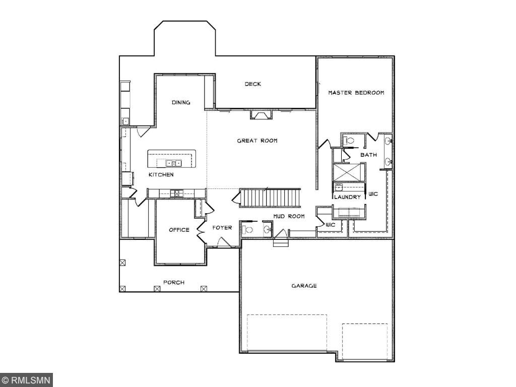 Custom Home Plan #2 Main Level