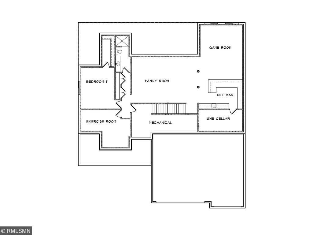 Custom Home Plan 32 Lower Level