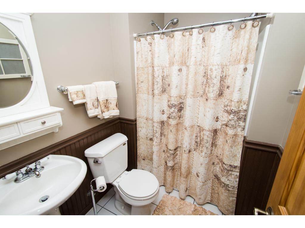 Lower level 3/4 bath with 2 shower heads!