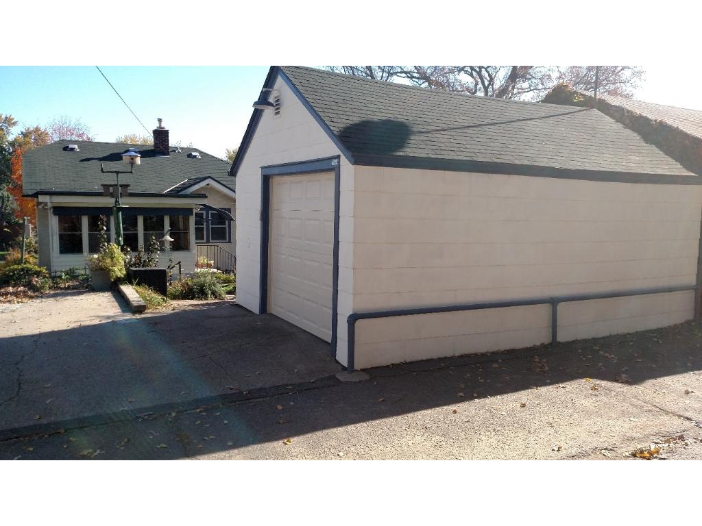 Garage and extra off street parking.