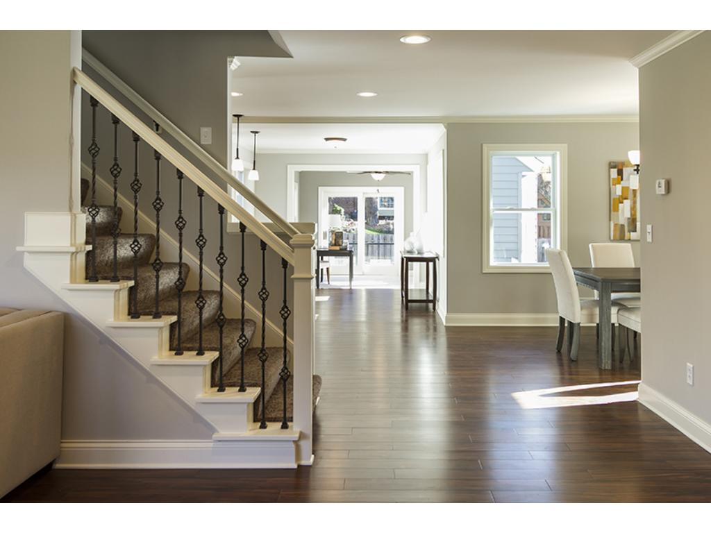 Another view of stairway looking toward the family room.