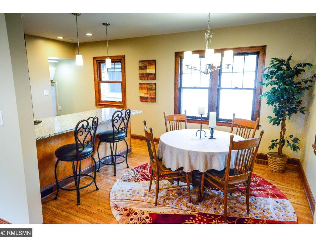 Kitchen has been opened to the dining room to create a great space for entertaining.