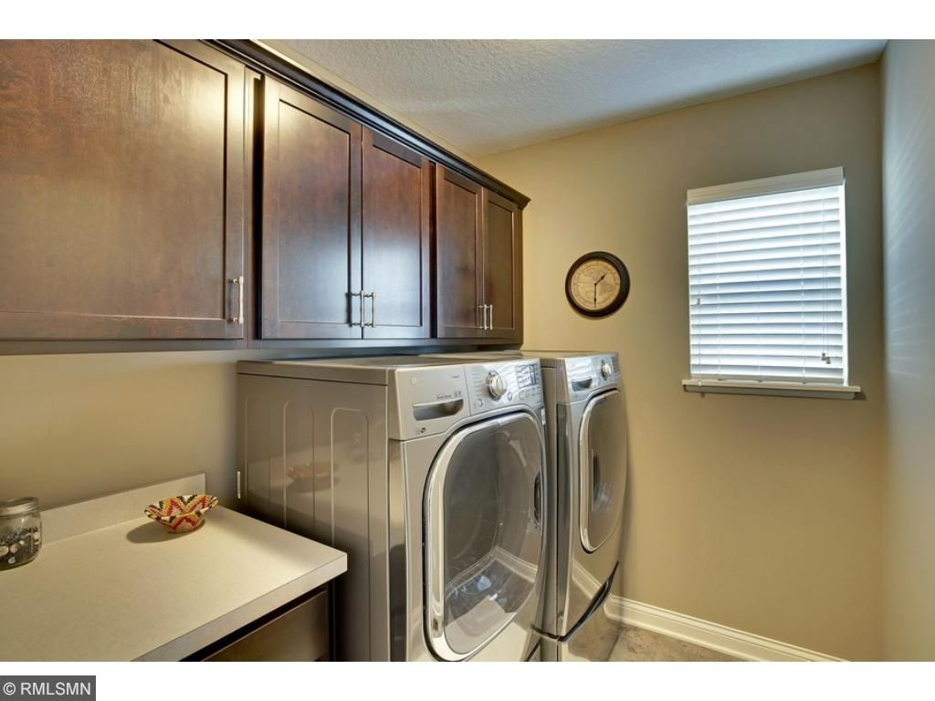 Upper Level laundry with LG washer and dryer.