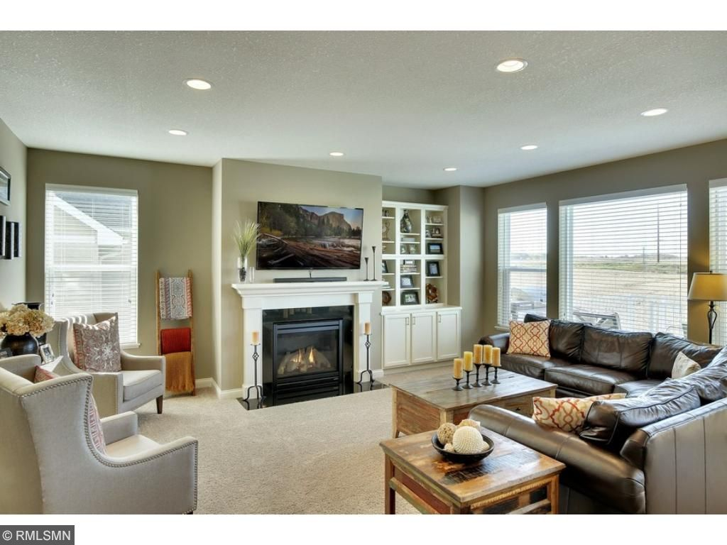 Light-filled main level family room with gas fireplace!