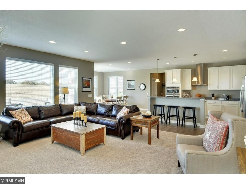 Open concept floor plan gives you plenty of space for family and friends.