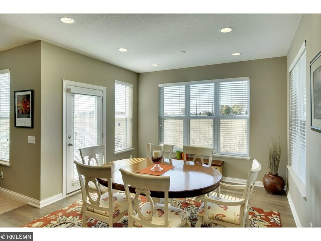 An informal dining area with access to the newer maintenance-free deck!