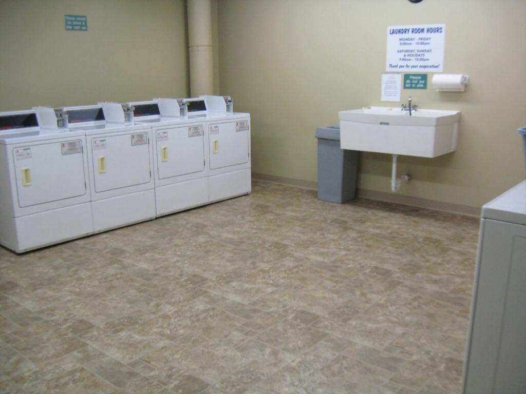ONE OF TWO LAUNDRY ROOMS.  PLENTY OF WASHERS AND DRYERS.  $1.00 TO WASH AND $1.00 TO DRY.