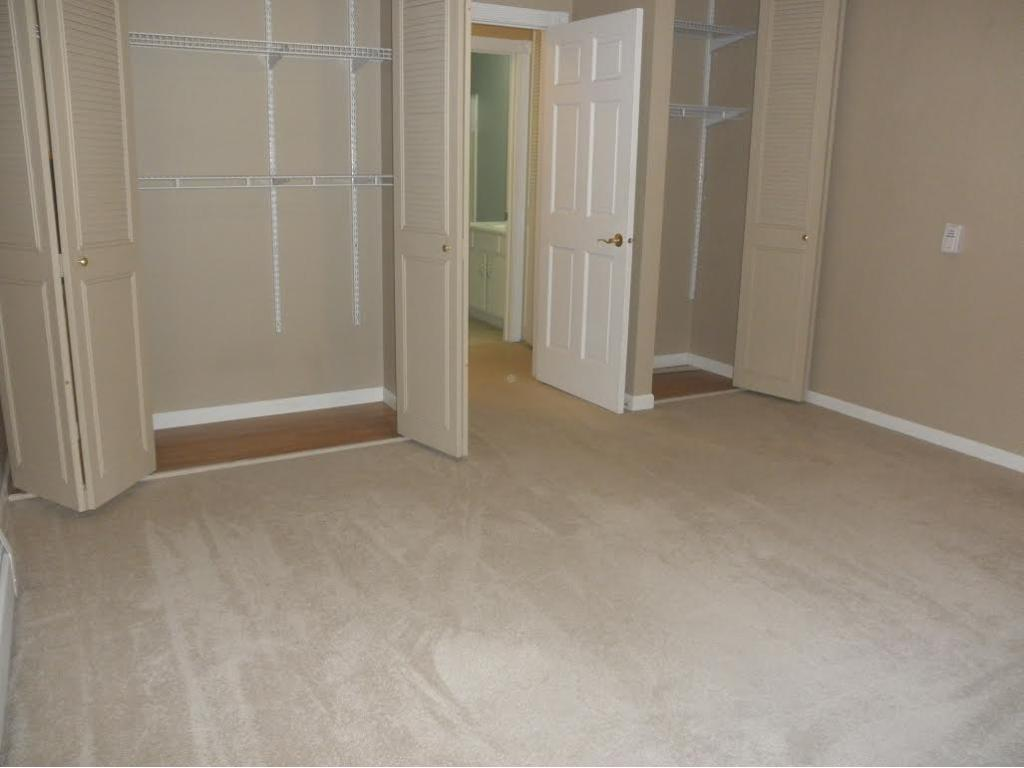 THE CLOSET FLOORS ARE WOOD LAMINATE.