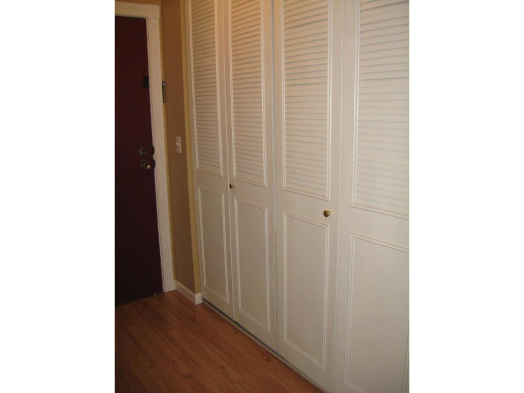 HUGE CLOSET IN THE ENTRY FOR IN UNIT STORAGE.