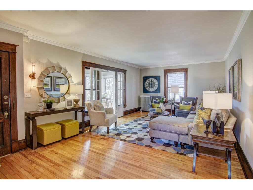 Large Living Room with Sun Room Overlooking Lake Harriet - Lots of Light!