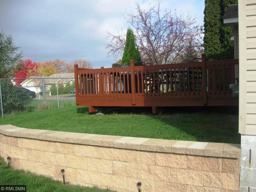 Nice retaining wall coming off of the lower level, up to your deck.
