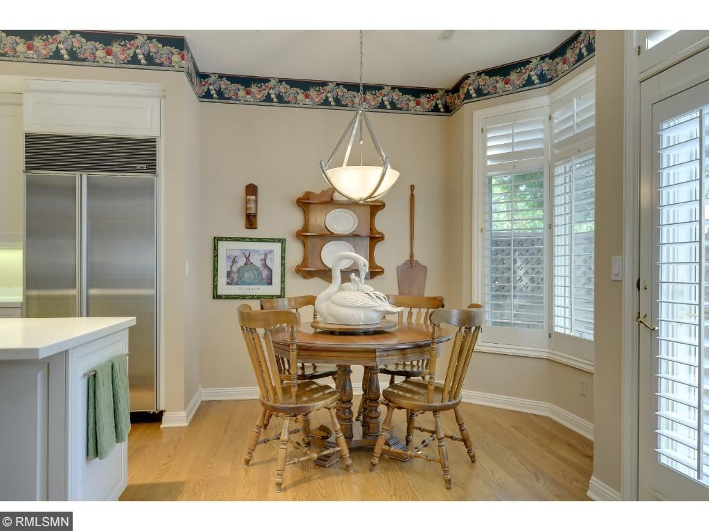 Eat in dining area with windows to private patio.