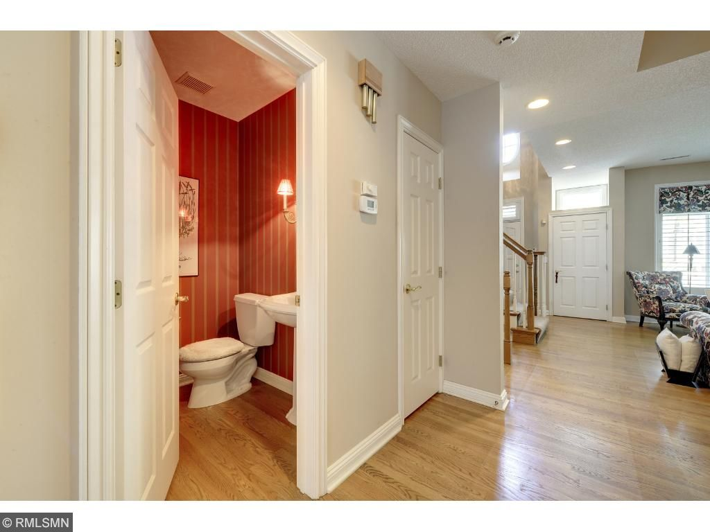 Half bath on main level for guests