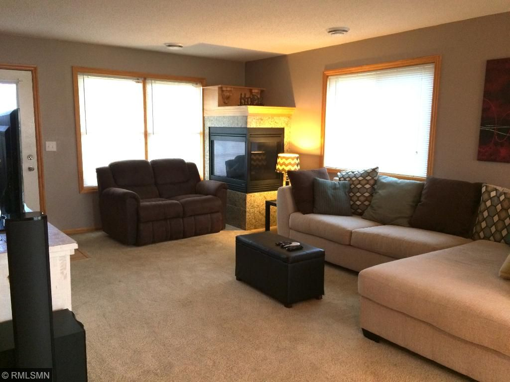Good Size Living Room With Cozy Gas Fireplace