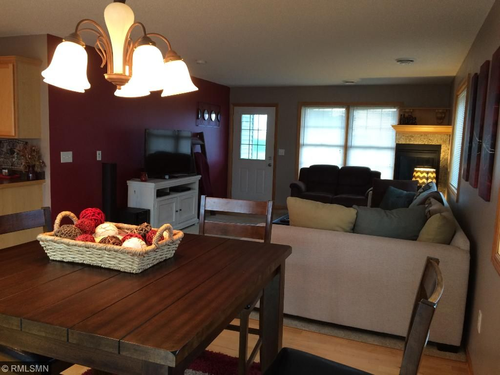 Eat In Kitchen Flows Into Living Room