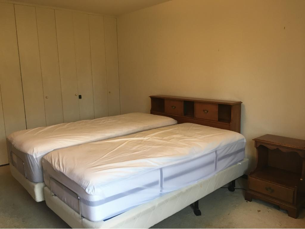 Very large bedroom has plenty of room for a king size bed and full suite of furniture.