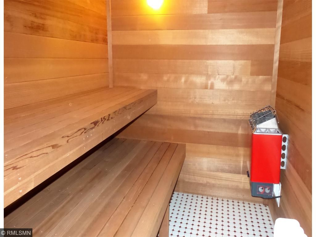 "Imagine relaxing on those cold winter nights in a Sauna made from the ""Heart of Redwood"".    There is also a shower in the sauna."
