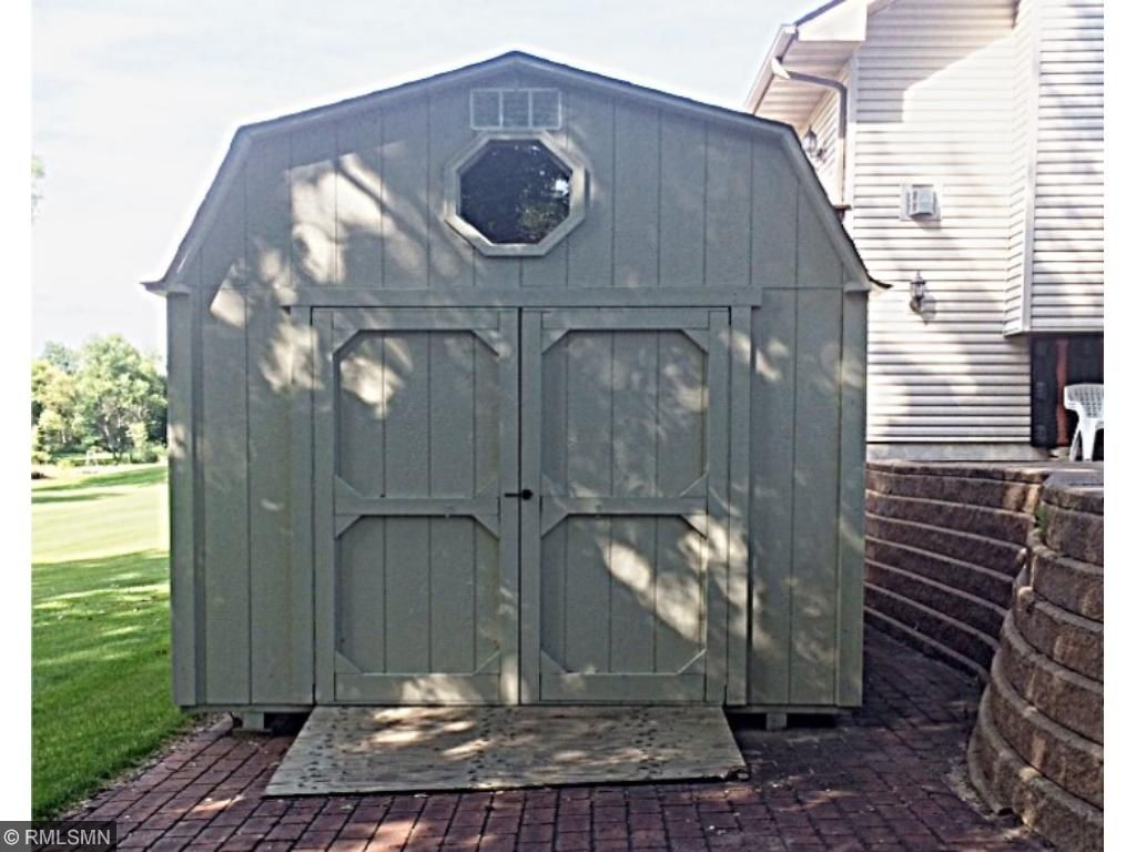 A detached storage shed in back measures 16x10 .