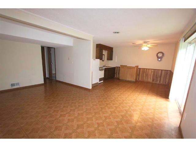 Basement living/kitchen area.