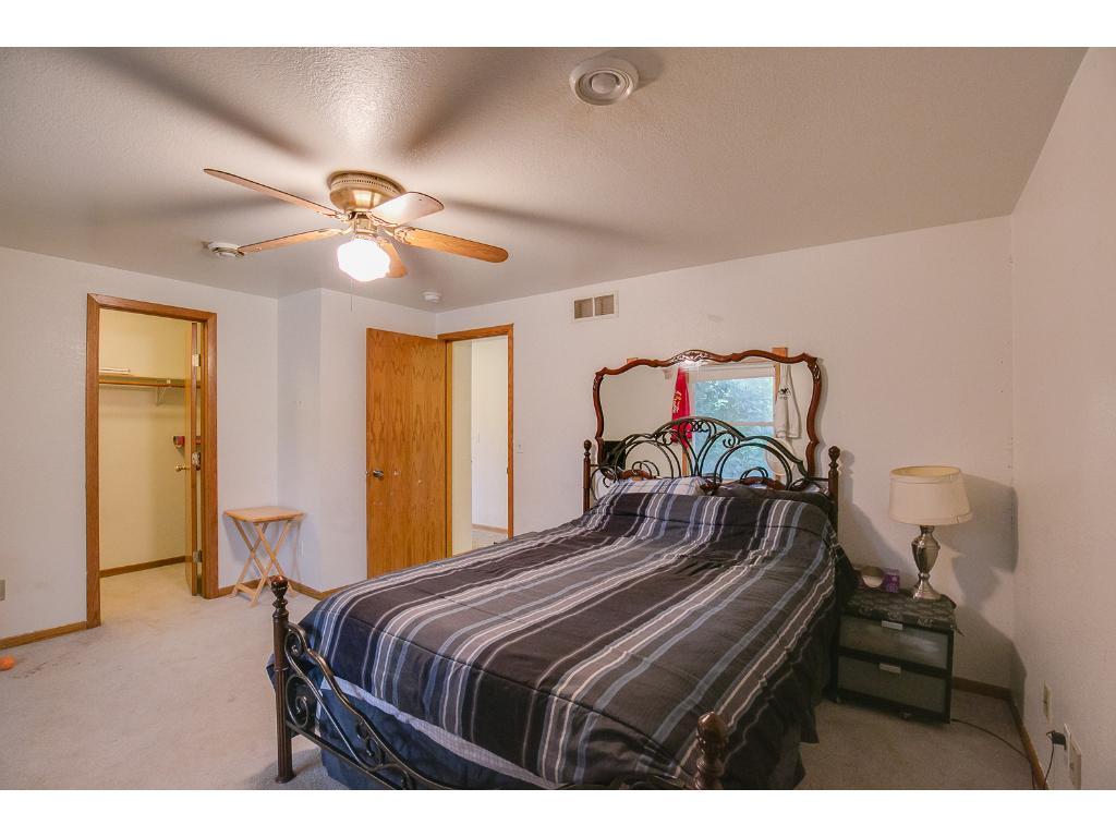Huge master bedroom with 2 walk in closets.