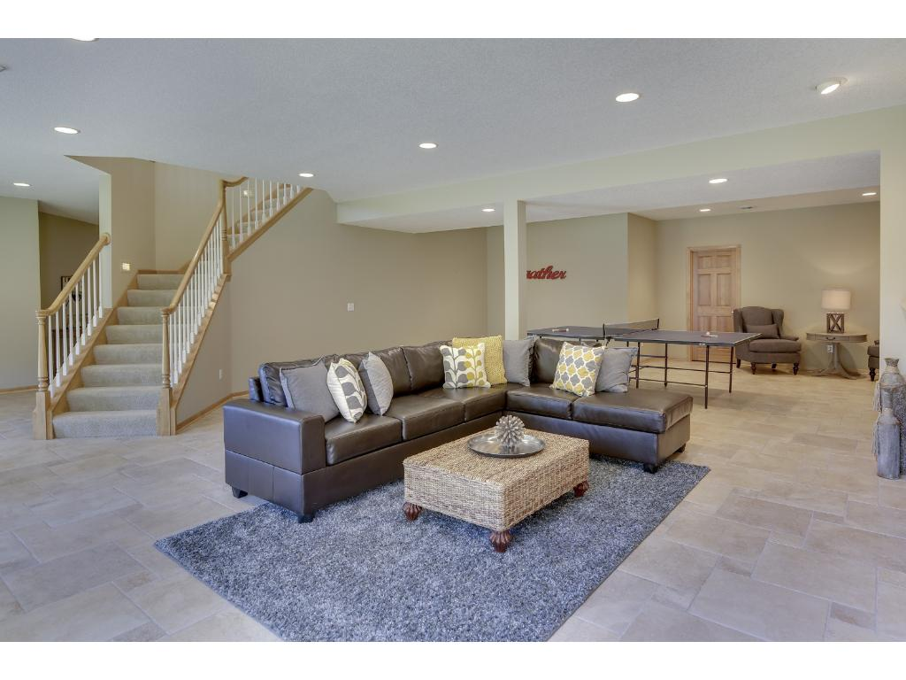 Large basement space for gathering and plenty of extra space for ping pong or pool table