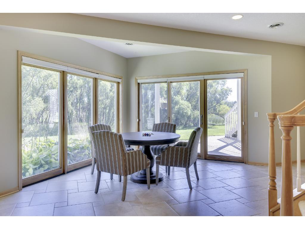 Down stairs views of wetlands great space as a reading nook or game table
