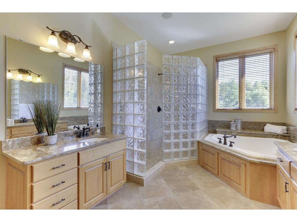 No need to go to the spa with this newly redone master bath.  Enjoy heated floors during those cold chilly months
