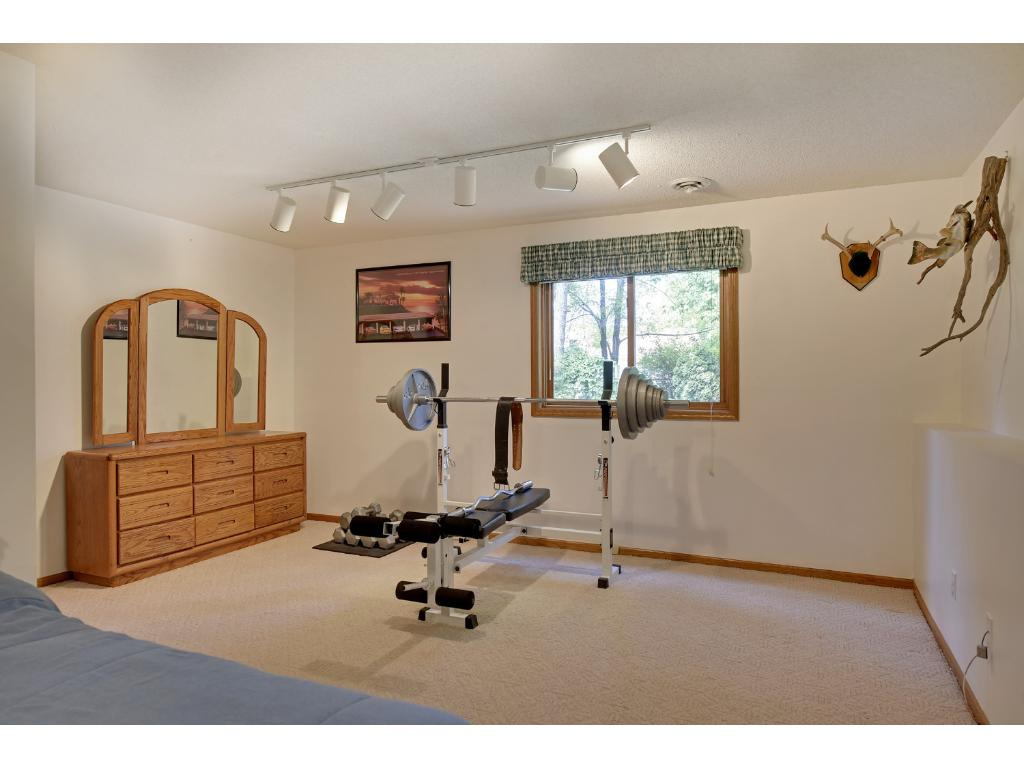 Spacious lower level bedroom