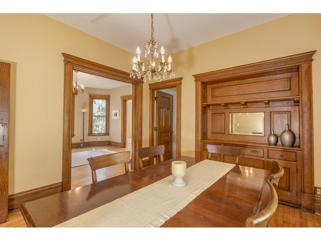 Formal Dining Rm -Built In Buffet with Mirror