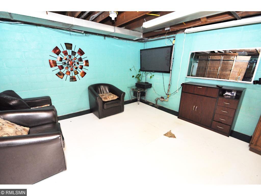 Extra family room space in basement of 4318 Side