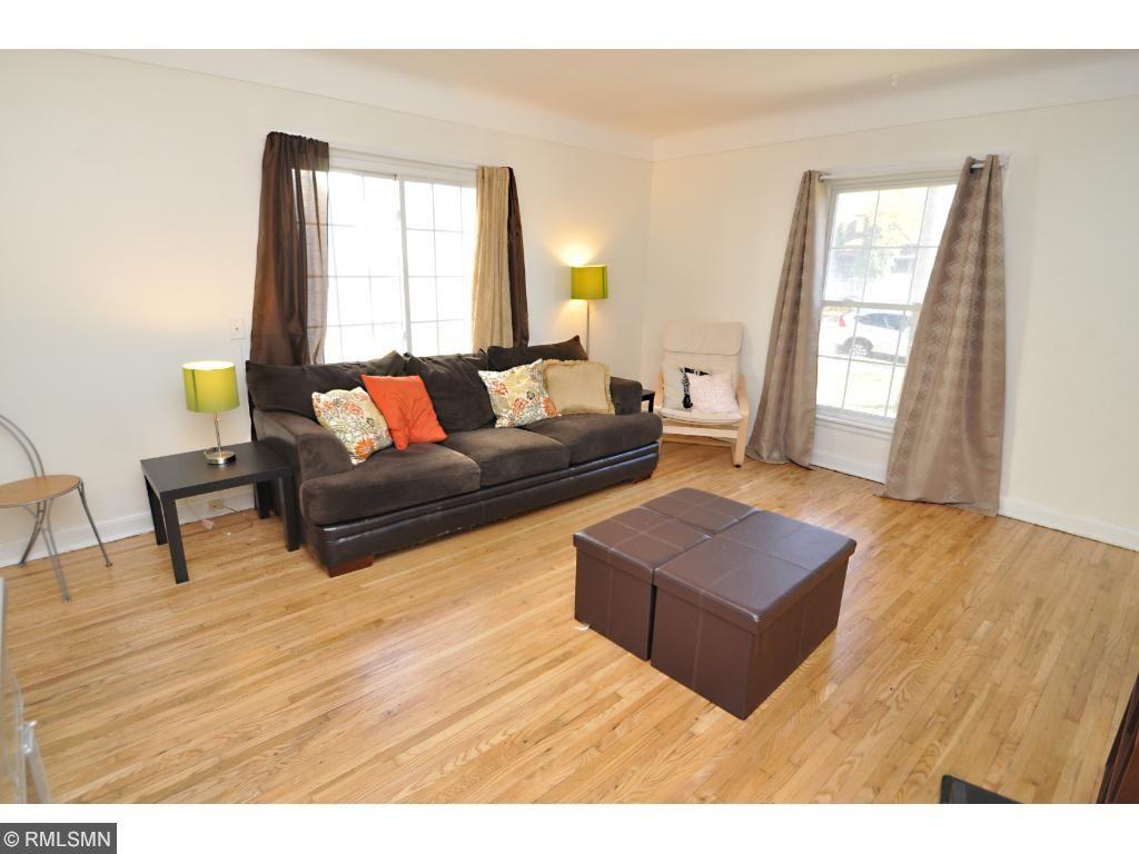 Refinished original hardwood Floor on 4316 side (North Side)
