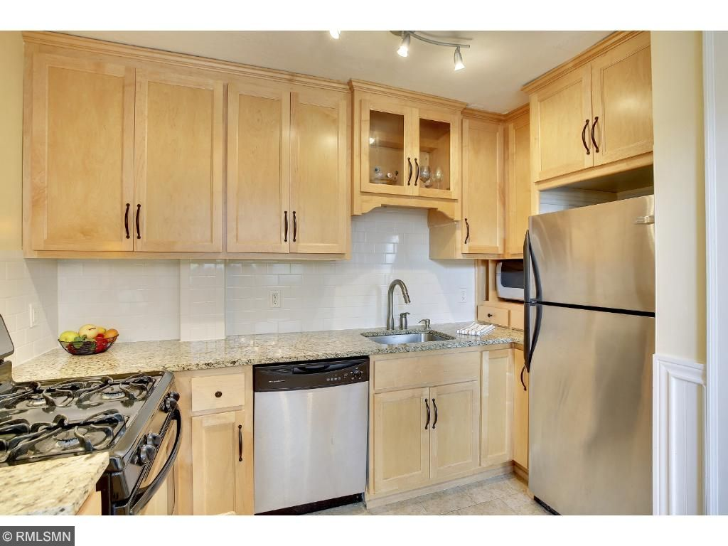 Kitchen is updated with stainless steel appliances and granite countertops!
