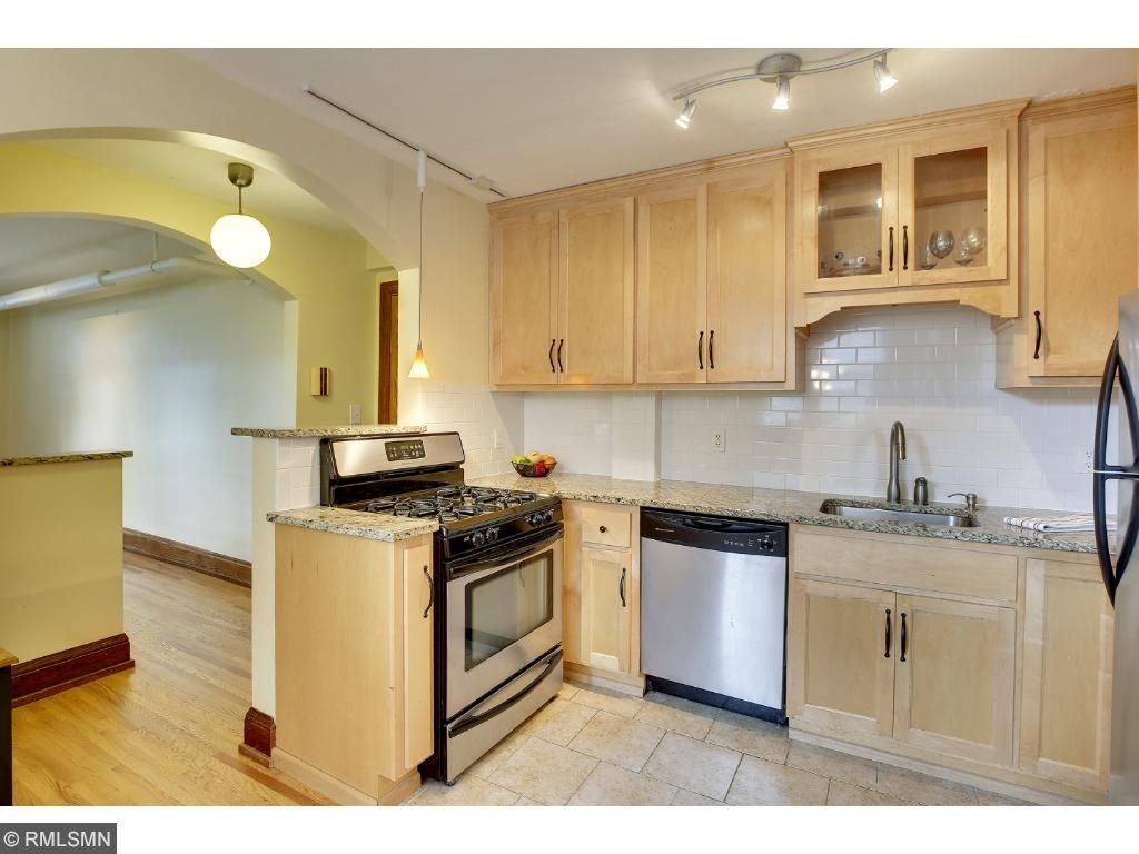 Kitchen is open to the dining and has sight lines to the living room for fun entertaining!