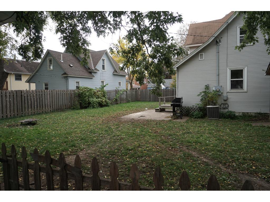 Fenced yard a added plus