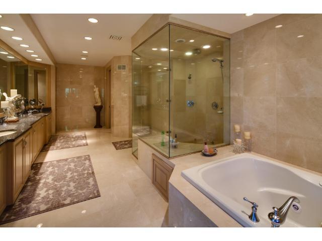 Spa like master bath is a retreat designed for luxury.