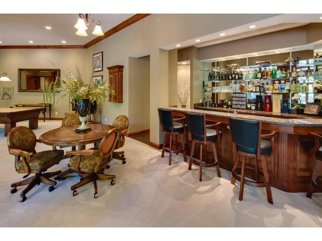 Lower level bar with all the amenities to entertain.