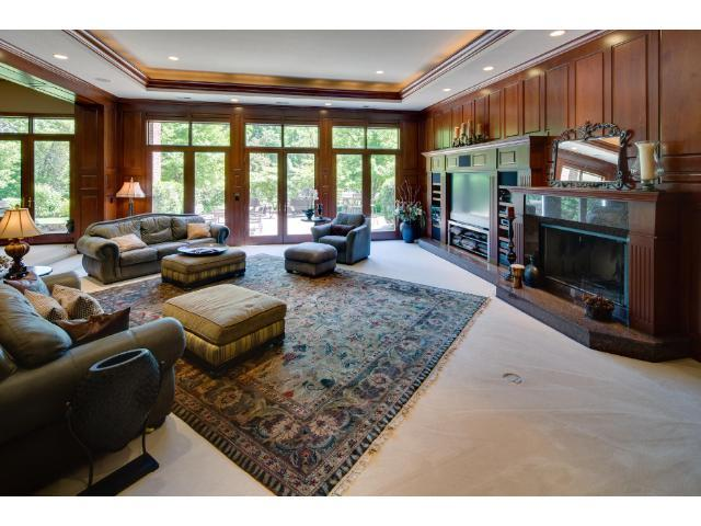The lower level is the perfect place to relax or entertain.