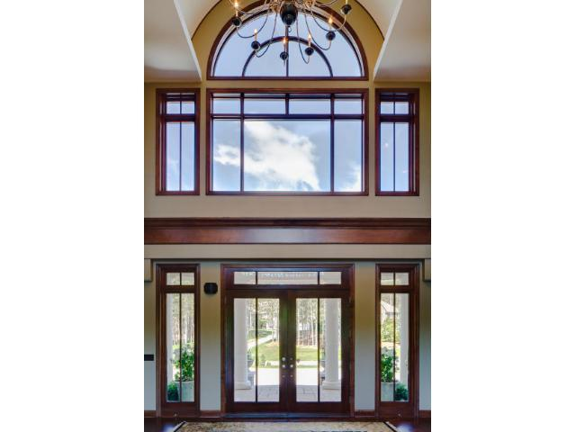 Stunning grand entrance with unique barrel vaulted ceiling