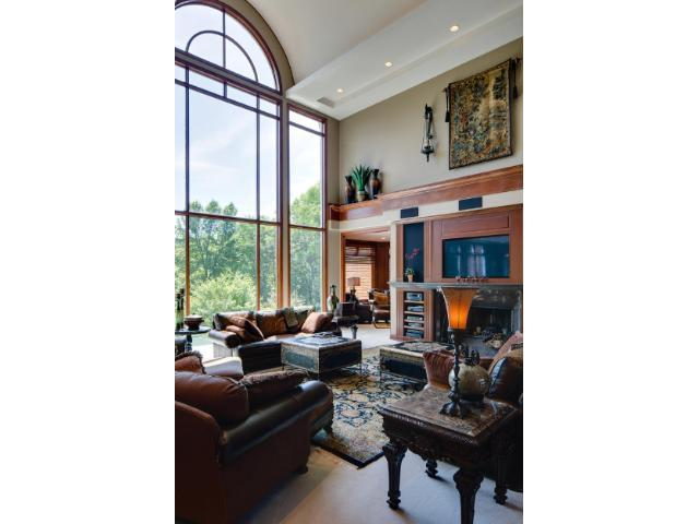 Spectacular views and light in this gorgeous two story great room.