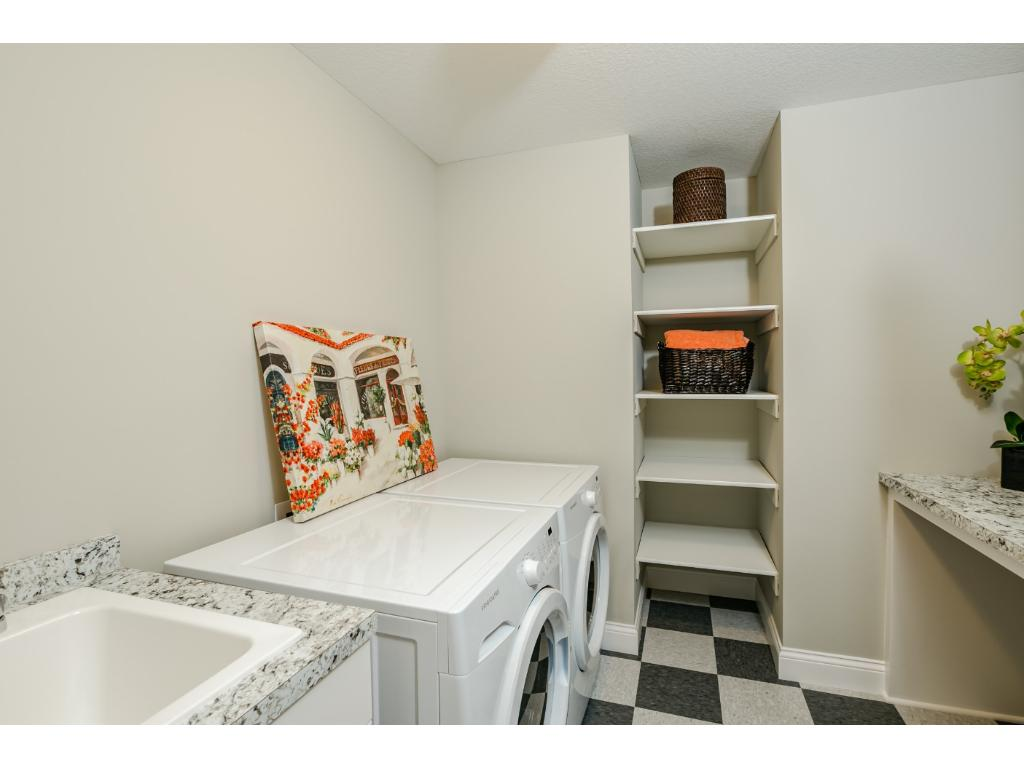 Upper level Laundry with front load Washer and Dryer
