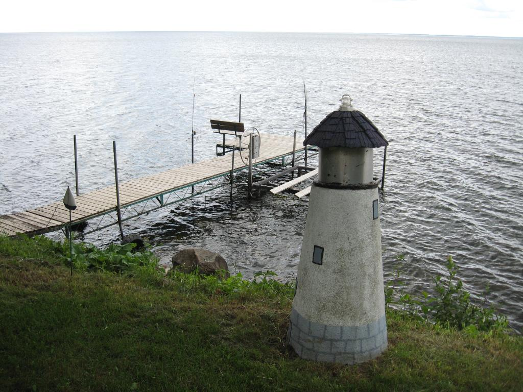 Dock and light house.