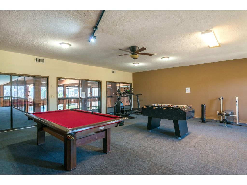 A workout/game room is available for residents.
