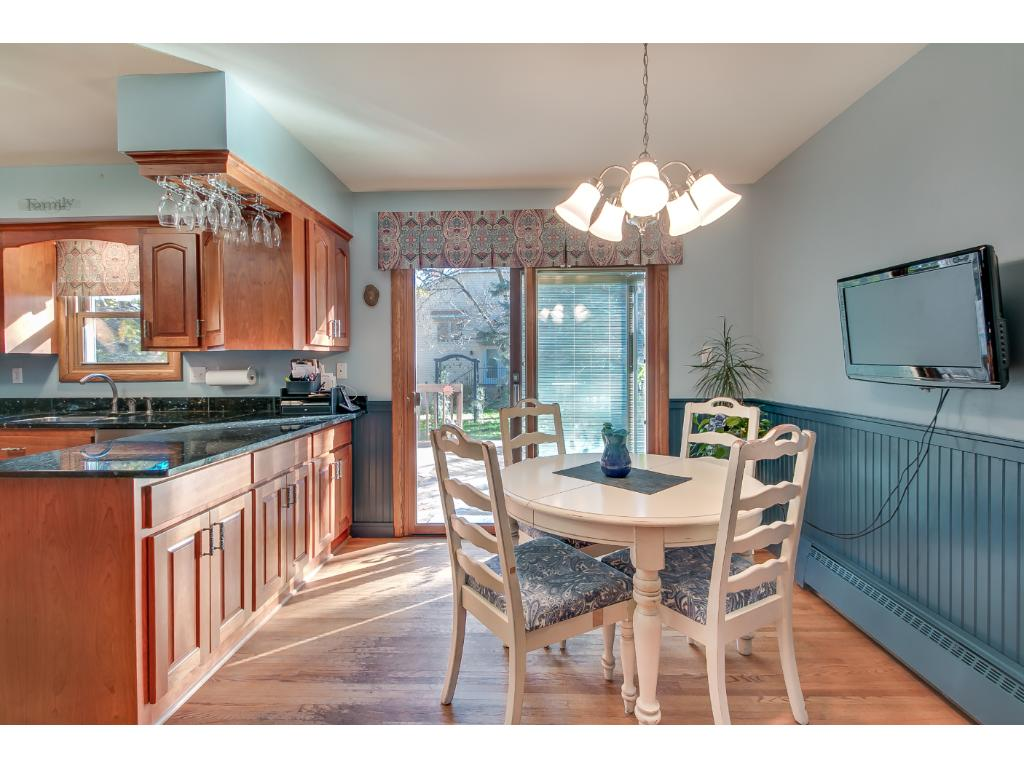 Good sized eat-in kitchen. Leading to back deck.