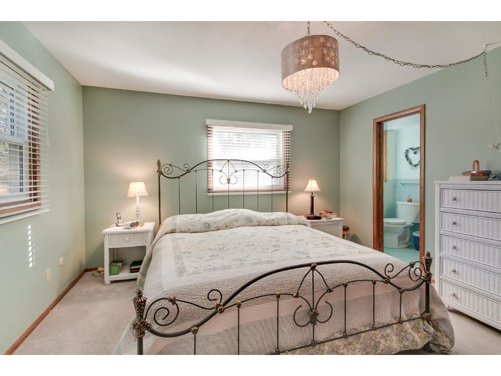 Master bedroom on the upper level.