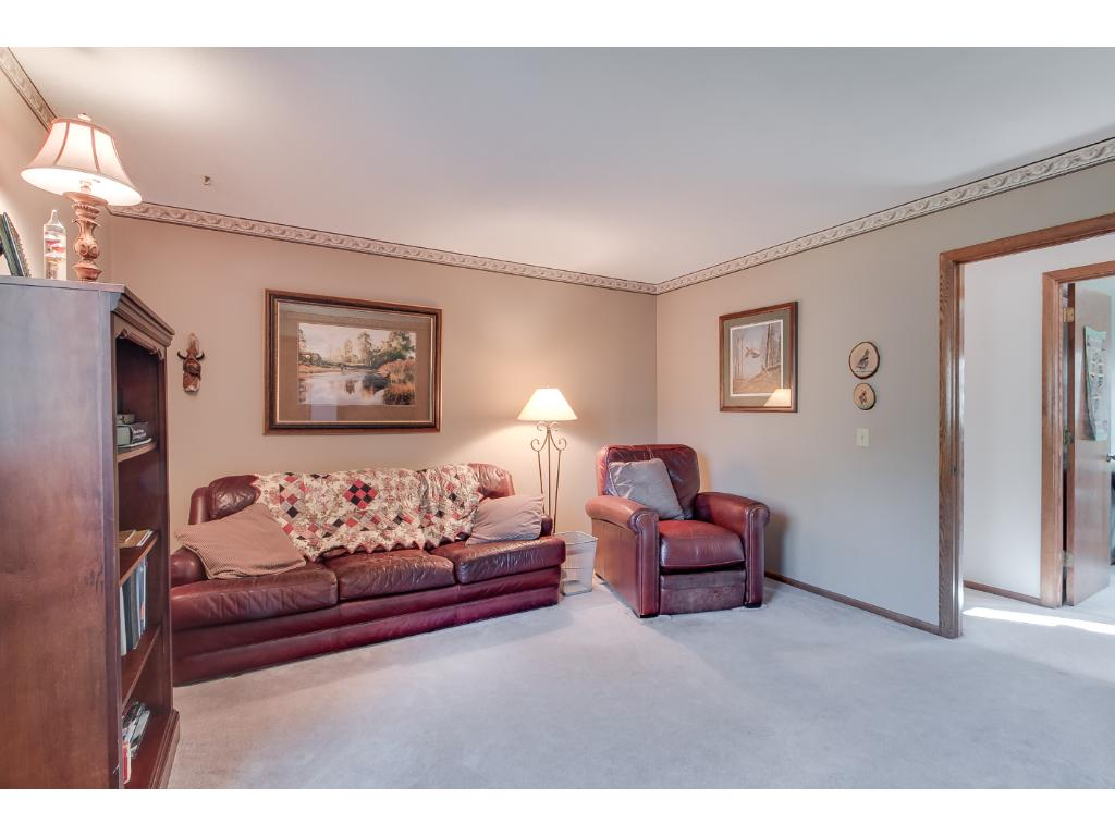 Another bedroom (4th) on the upper level. Same size as the master bedroom. Currently used as a TV room.