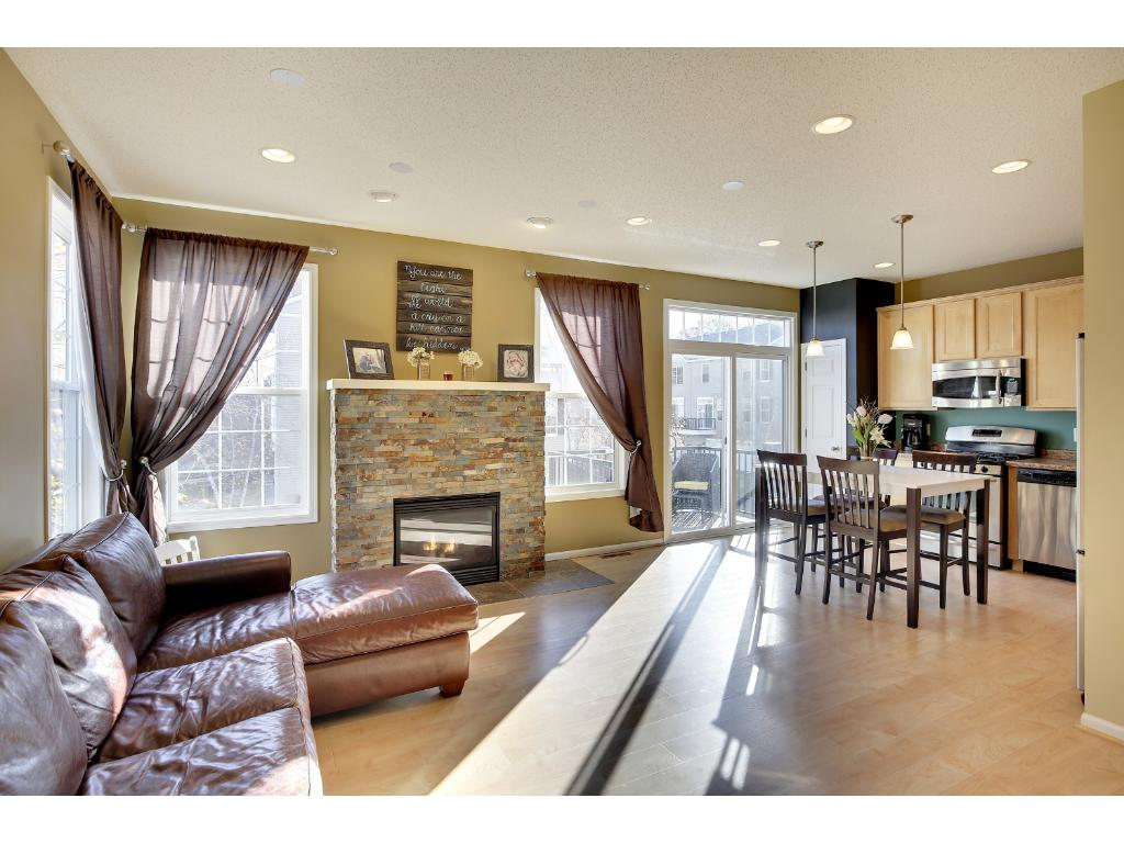 Open layout floor plan and end unit that allows lots of natural light to flow in.